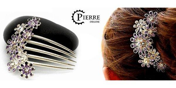 Ozdobný kovový hřebínek do vlasů