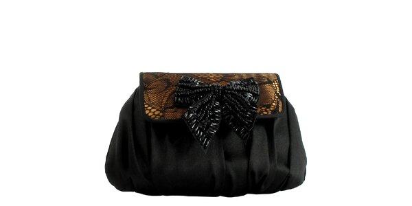 Dámská černá kabelka s mašlí Menbur