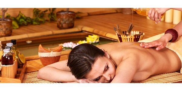 40minutová masáž čokoládovým olejem