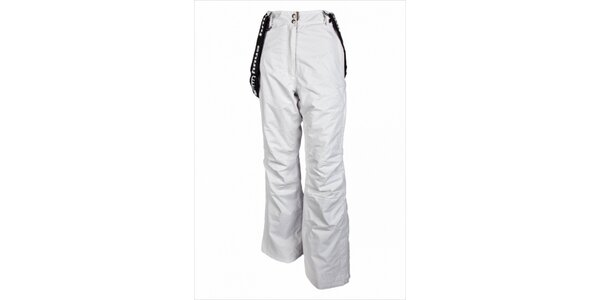 Dámské lyžařské kalhoty s odepínacími šlemi značky Envy v bílé barvě