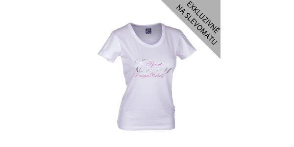 Dámské bílé tričko Envy s velkým potiskem