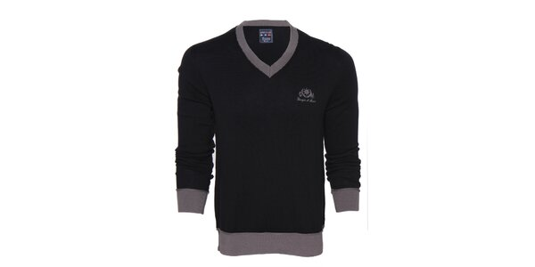 Pánský černo-šedý svetr Giorgio di Mare