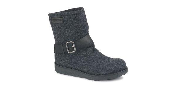 Dámské tmavě šedé melírované kotníčkové boty Bronx
