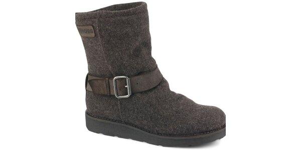 Dámské hnědé melírované kotníčkové boty Bronx