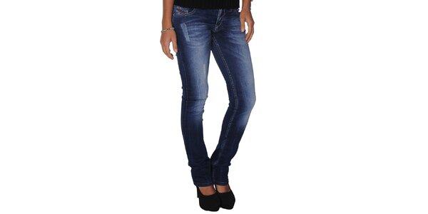 Dámské modré džíny s šisováním Giorgio di Mare