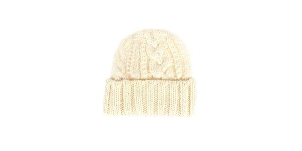 Dámská krémová pletená čepice Nolita