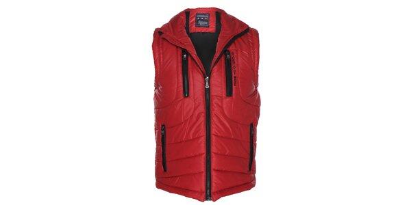 Pánská červená prošívaná vesta Giorgio di Mare