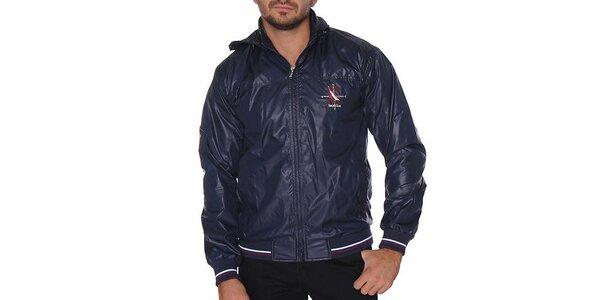 Pánská tmavě modrá bunda s kapucí Giorgio di Mare