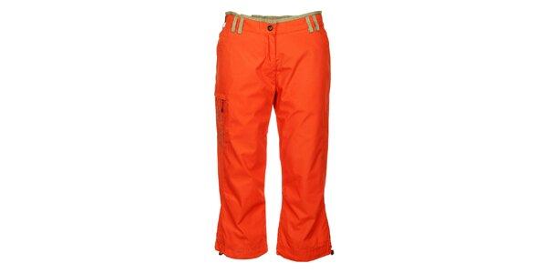 Dámské sytě oranžové 3/4 kalhoty Hannah
