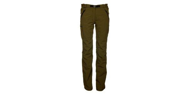 Dámské olivové kalhoty Hannah