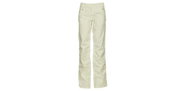 Dámské bílé bavlněné kalhoty Loap