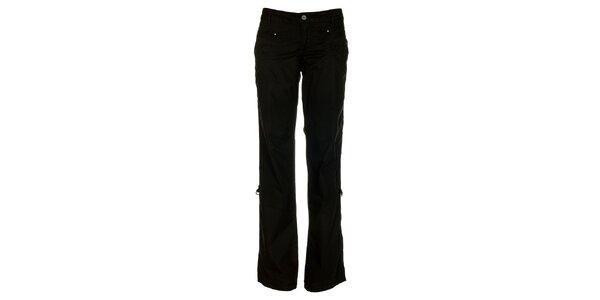Dámské černé bavlněné kalhoty Loap