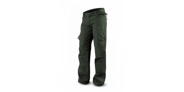 Dámské tmavě zelené kalhoty Trimm Sella