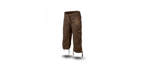 Dámské tmavě hnědé 3/4 kalhoty Trimm Sharon