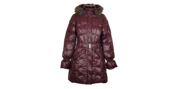 Dámský tmavě fialový péřový kabát Northland