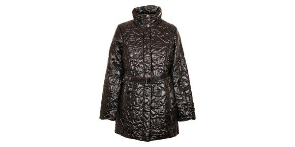 Dámský tmavě hnědý prošívaný kabát Northland