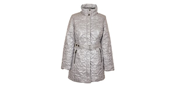 Dámský stříbrný prošívaný kabát Northland