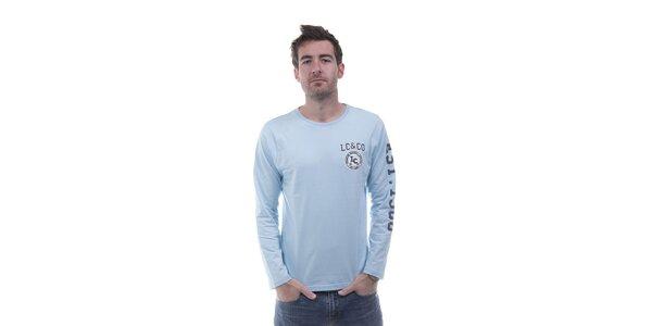 Pánské světle modré tričko Lee Cooper s potiskem