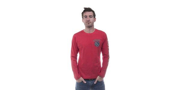 Pánské červené tričko Lee Cooper s potiskem
