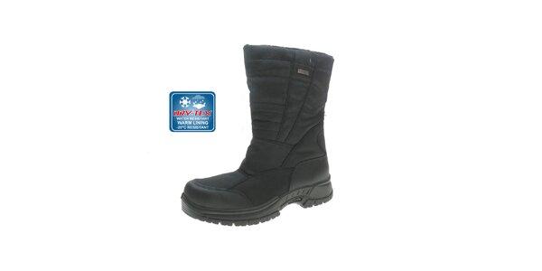 Pánské černé vysoké zimní boty Beppi
