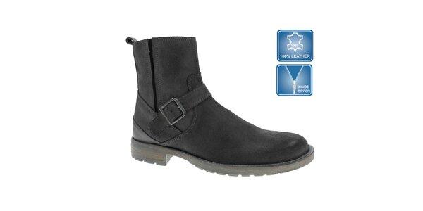 Pánské šedé kotníčkové boty Beppi s přezkou
