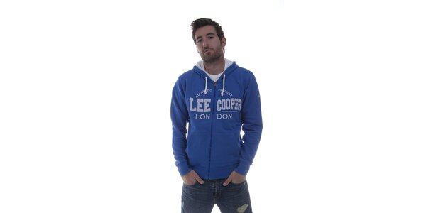 Pánská modrá mikina Lee Cooper se zipem
