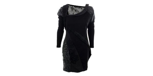Dámské černé šaty s květinovým vzorem Angels Never Die