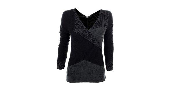 Dámské černo-šedé tričko Angels Never Die