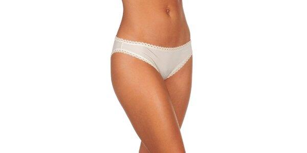 Dámské slonovinově bílé kalhotky Calvin Klein