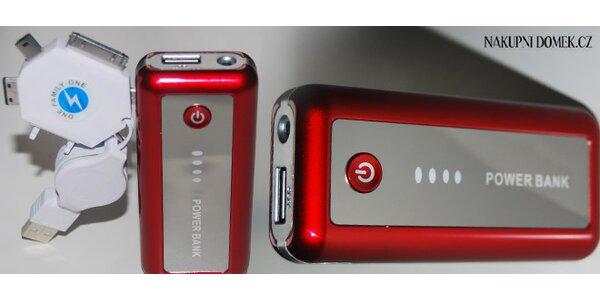 Power Bank. Přenosný zdroj energie pro mobily, iPad, mp3
