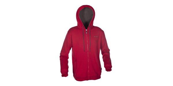 Pánská červená mikina Envy s kapucí