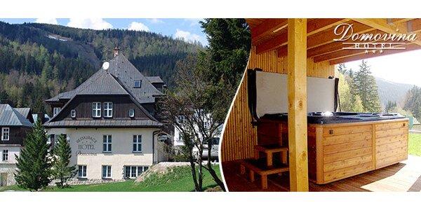 3 dny ve Špindlu včetně vířivky, sauny a polopenze