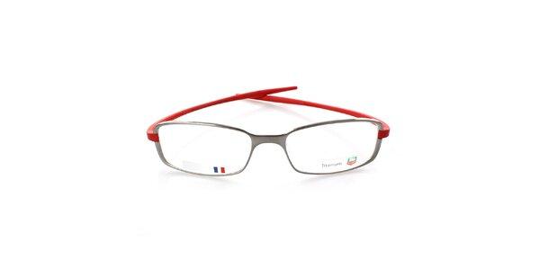 Šedo-červené designové brýle Tag Heuer
