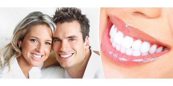 Ordinační bělení zubů lampou LED