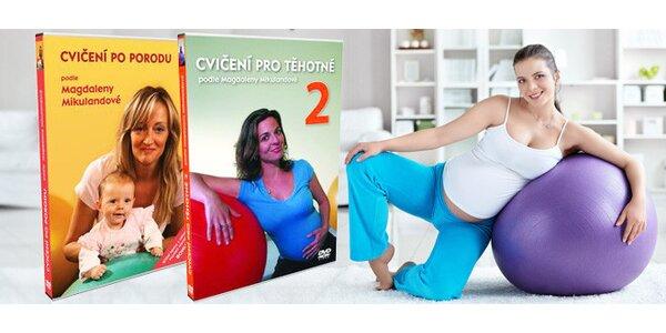 Cvičení pro těhotné i po porodu. DVD podle M. Mikulandové
