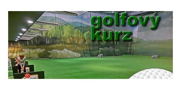 Kurz golfu s trenérem pro začátečníky i pokročilé