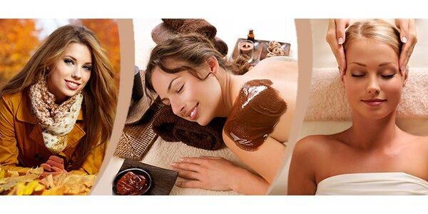 Sladký život s čokoládou - peeling, masáž zad a kosmetická masáž obličeje…