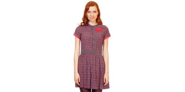Dámské hnědo-červené šaty s mašličkou Rosalita McGee