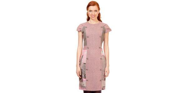 Dámské růžovo-šedé šaty Rosalita McGee