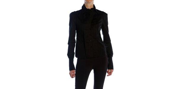 Dámská černá košile s plisováním Gene