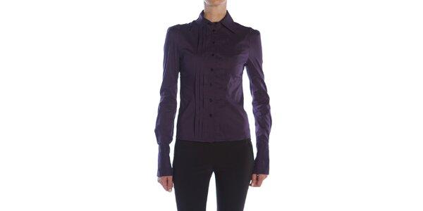 Dámská fialová košile s plisováním Gene