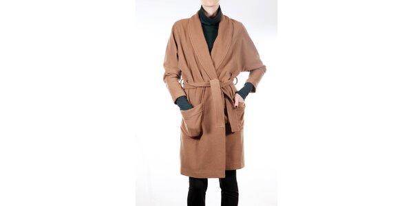 Dámský velbloudí kabát s páskem Gene