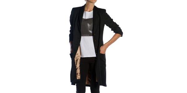 Dámský dlouhý černý kabát Gene