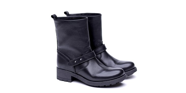 Dámské černé nízké kozačky s páskem Shoe the Bear