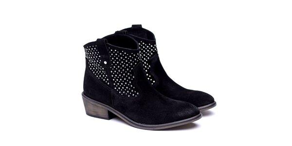Dámské černé kovbojské boty Shoe the Bear
