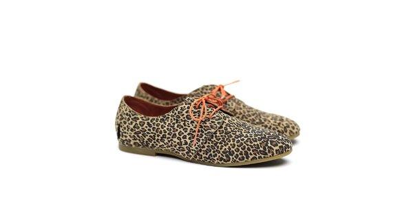 Dámské polobotky s leopardím potiskem Shoe the Bear
