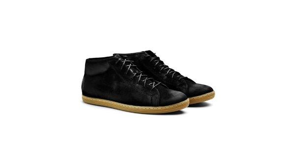 Pánské černé semišové kotníčkové tenisky Shoe the Bear