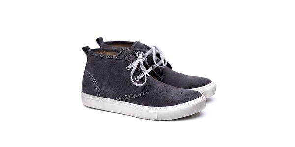 Pánské šedivé semišové boty Shoe the Bear
