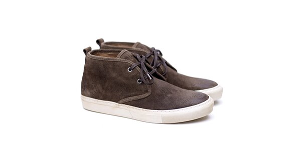 Pánské khaki semišové boty Shoe the Bear