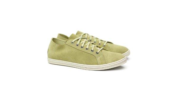 Pánské světle zelené semišové tenisky Shoe the Bear